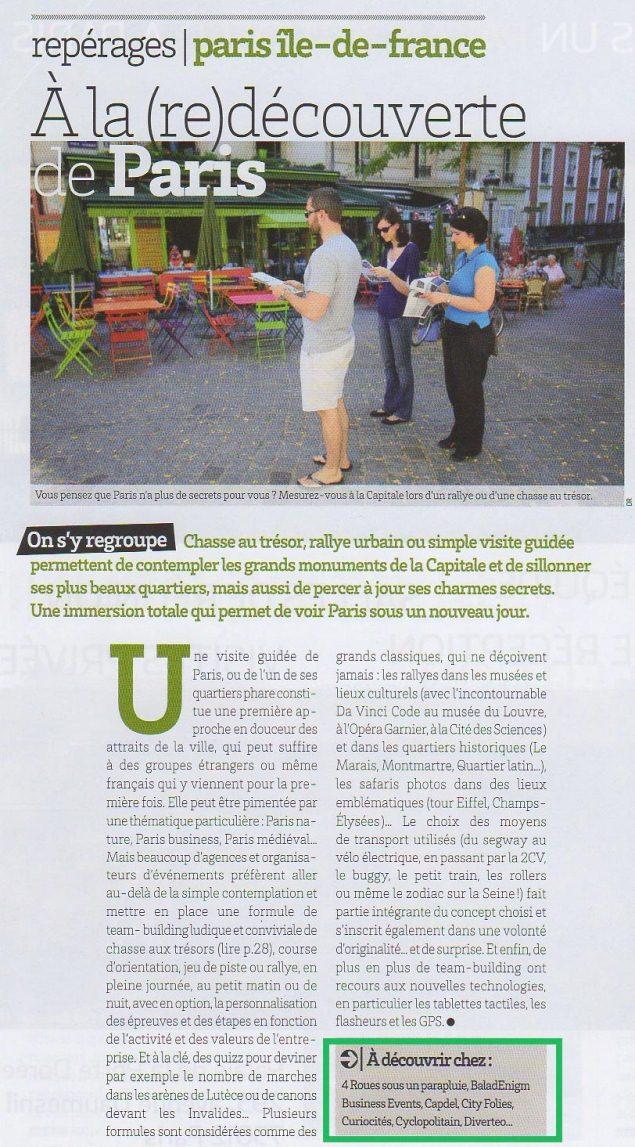 meet-in article presse sur diverteo chasse au-tresor jeu de piste team-building à paris